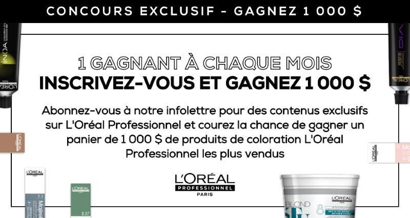Gagnez un panier de produits de coloration L'Oréal