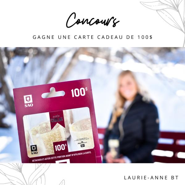GAGNEZ UNE CARTE CADEAU DE 100$ À LA SAQ!