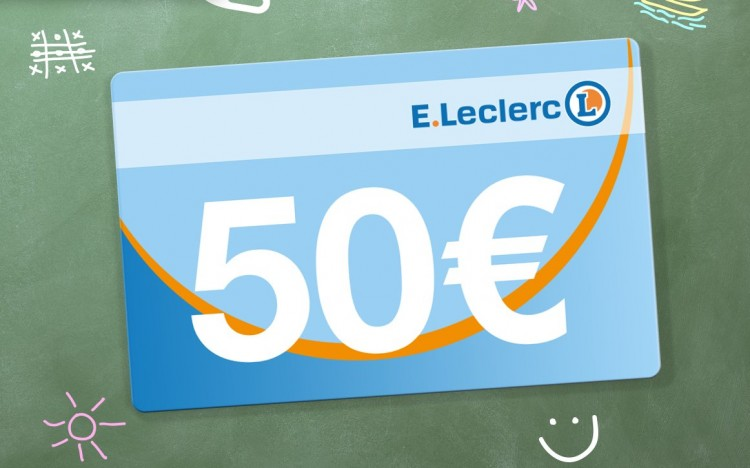 Gagnez 34 bons d'achat E.Leclerc de 50 euros