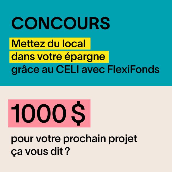 GAGNEZ 1000$ POUR UN INVESTISSEMENT DANS UN CELI!