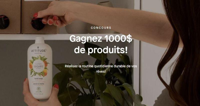 Gagnez des produits de la marque ATTITUDE d'une valeur de 1 000$!