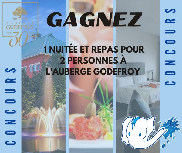 GAGNEZ UN FORFAIT POUR 2 PERSONNES À L'AUBERGE GODEFROY!
