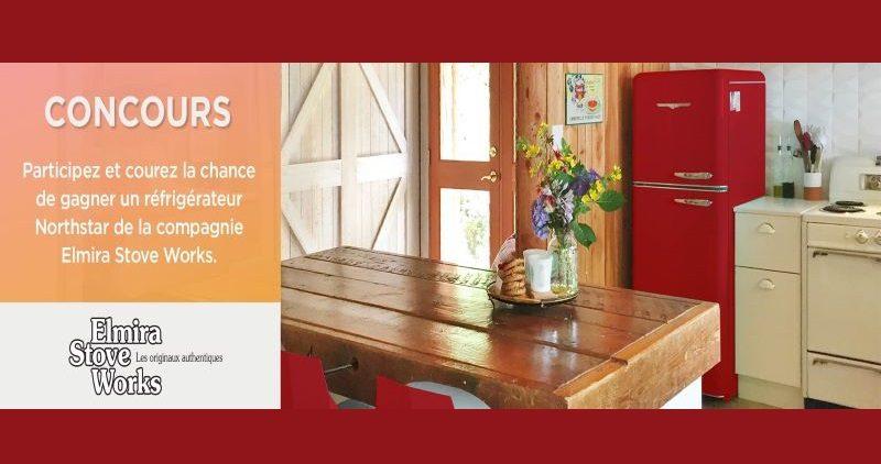 Gagnez un réfrigérateur 30 pouces rouge bonbon de la compagnie Elmira Stove Works!
