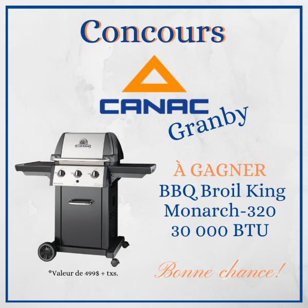 GAGNEZ UN BBQ BROIL KING DE 30 000 BTU!