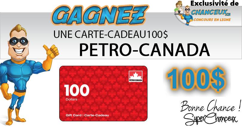 CARTE-CADEAU PETRO CANADA 100$