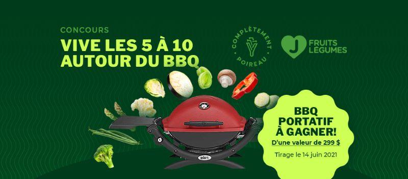 GAGNEZ UN BBQ PORTATIF AU PROPANE WEBER D'UNE VALEUR DE 299$!