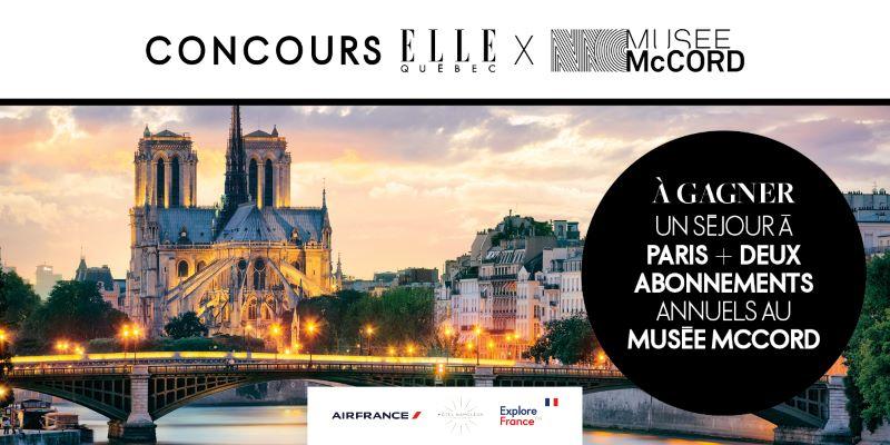 GAGNEZ UN SÉJOUR À PARIS POUR DEUX PERSONNES!