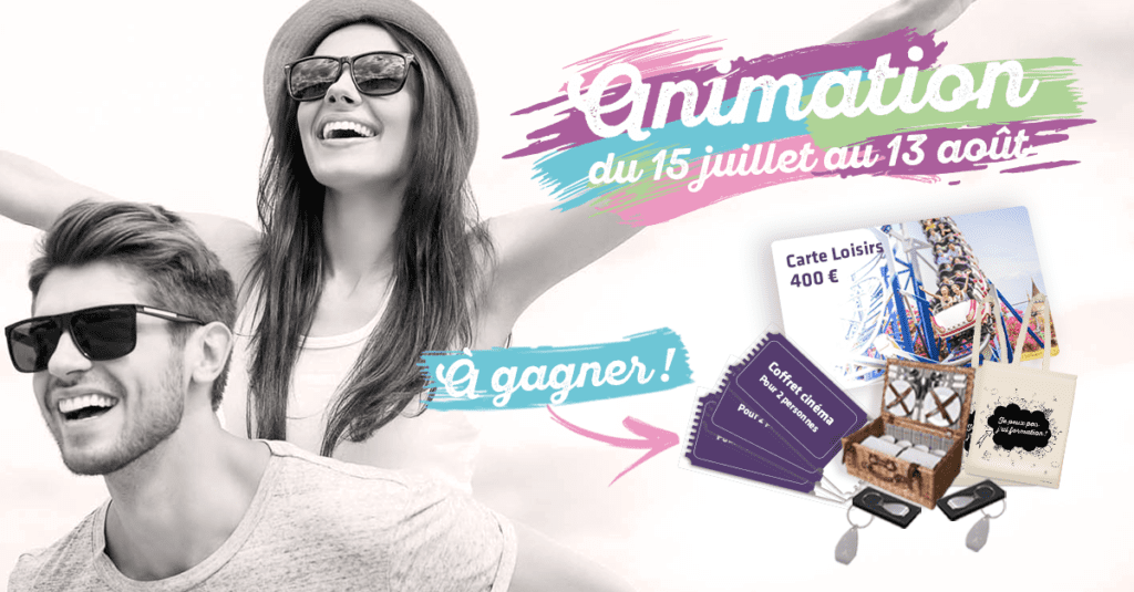 Gagnez 1 carte loisirs de 400 euros