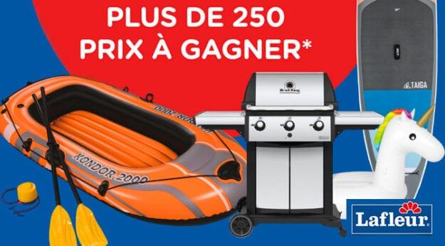 CONCOURS L'ÉTÉ C'EST CHEZ NOUS LAFLEUR – 250 PRIX À GAGNER !