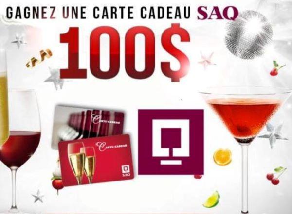 GAGNEZ UNE CARTE CADEAU SAQ D'UNE VALEUR DE 100$!