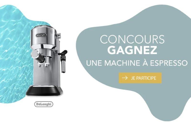 GAGNEZ UNE MACHINE À ESPRESSO DELONGHI D'UNE VALEUR DE 319,95$!