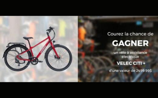 Gagnez un vélo à assistance électrique VÉLEC CITI de 2500 $