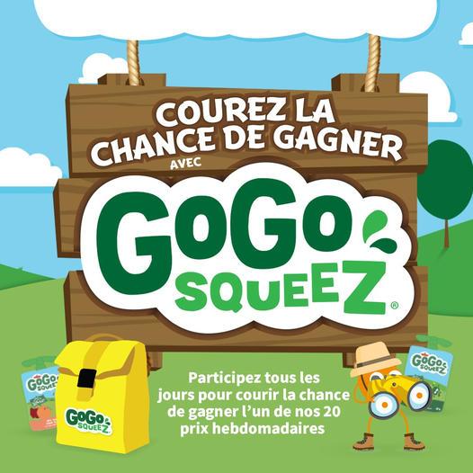 COUREZ LA CHANCE DE GAGNER AVEC GOGO SQUEEZ