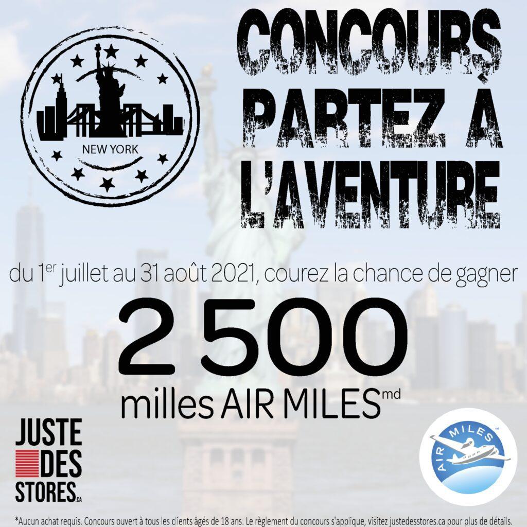 GAGNER 2500 MILLES AIR MILES !