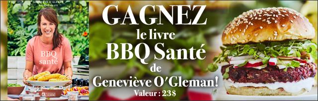 GAGNEZ LE LIVRE BBQ SANTÉ DE GENEVIÈVE O'GLEMAN!
