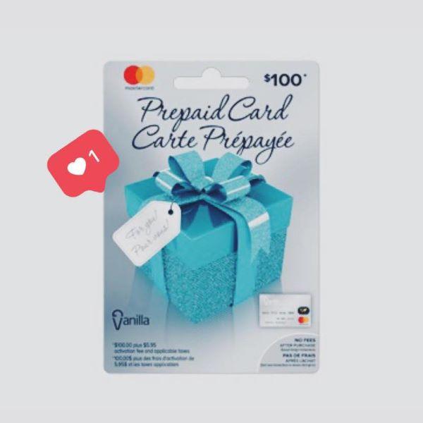 GAGNEZ UNE CARTE-CADEAU PRÉPAYÉE D'UNE VALEUR DE 100$!